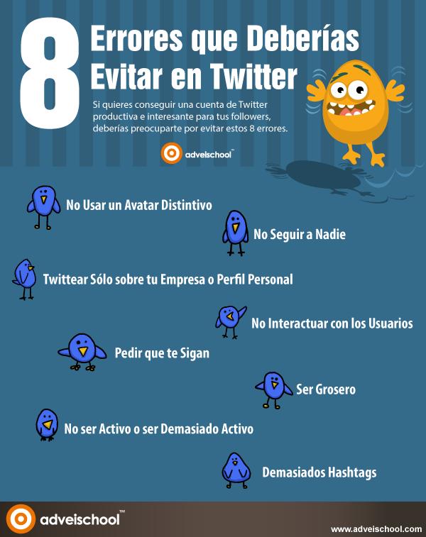 8 errores que debieras evitar en Twitter