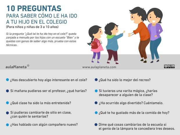10 preguntas para saber cómo le ha ido a tu hijo en el colegio