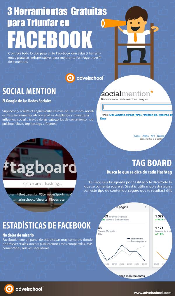 3 herramientas gratuitas para triunfar en FaceBook