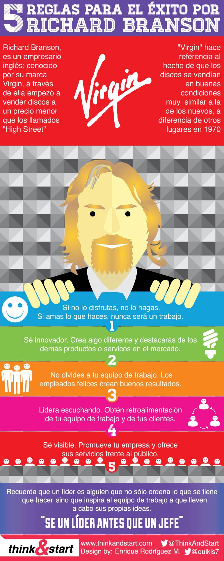 5 reglas del éxito por Richard Branson