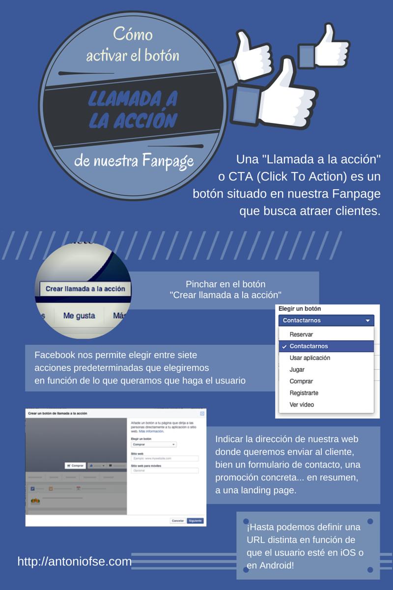 Cómo activar el botón de llamada a la acción en FaceBook