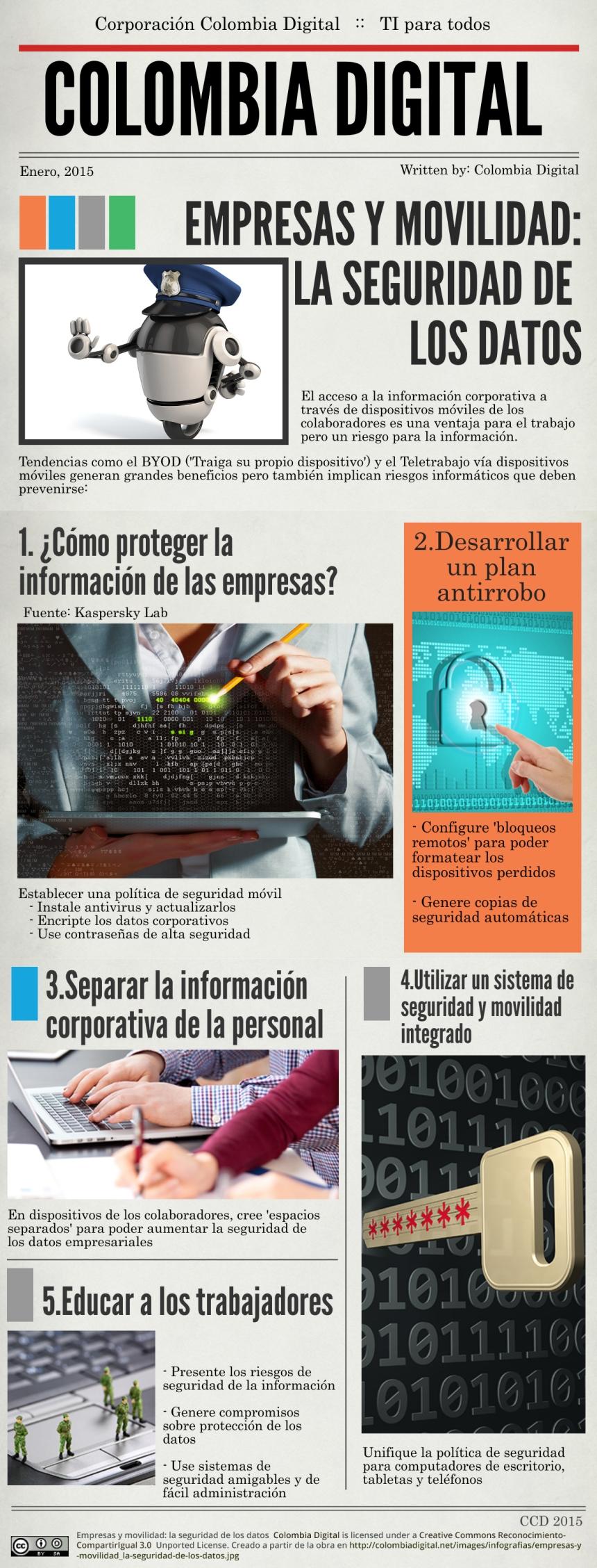 Empresas y movilidad: seguridad de los datos