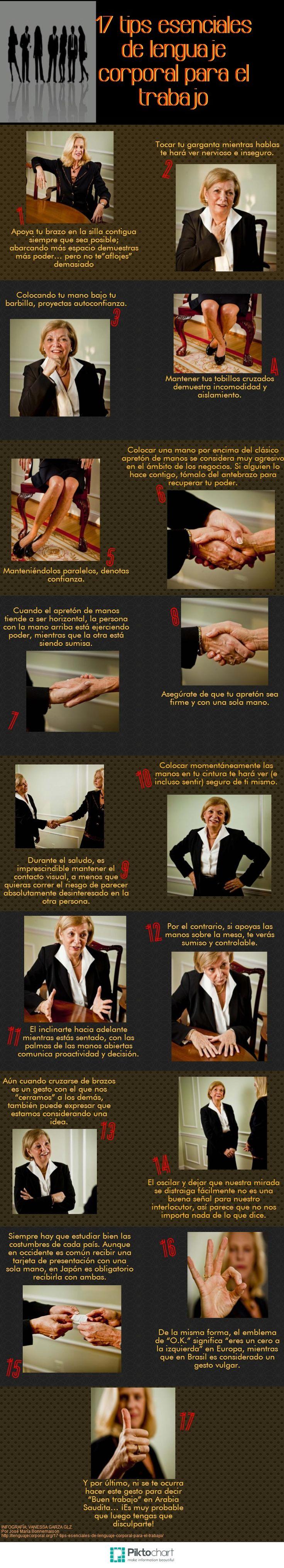17 consejos lenguaje corporal para el trabajo