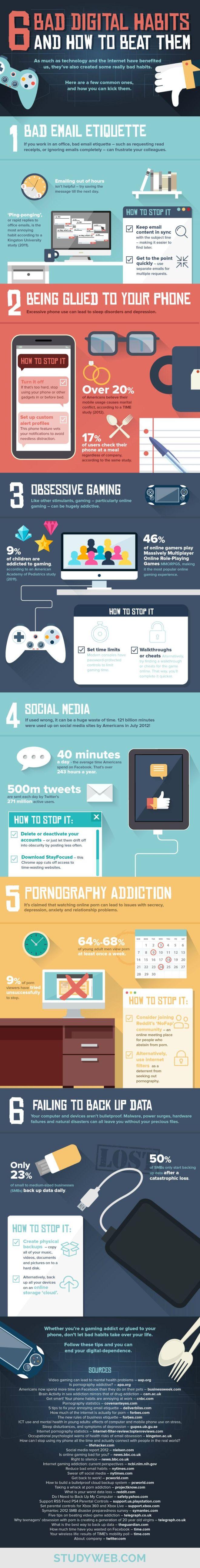 6 malos hábitos digitales y cómo combatirlos