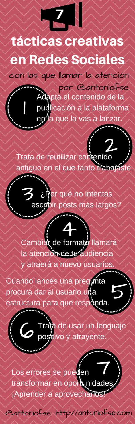 7 tácticas creativas en Redes Sociales