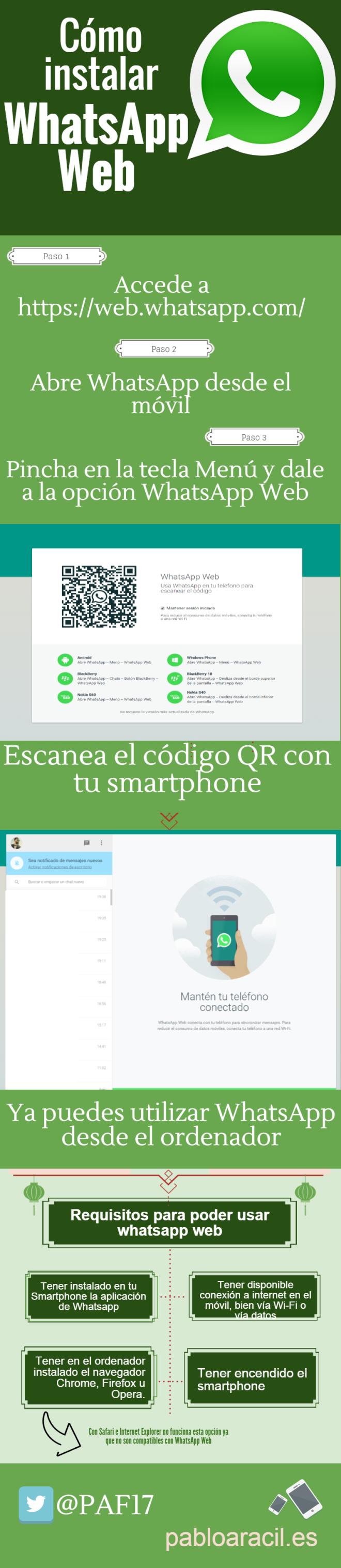 Cómo instalar WhatsApp Web