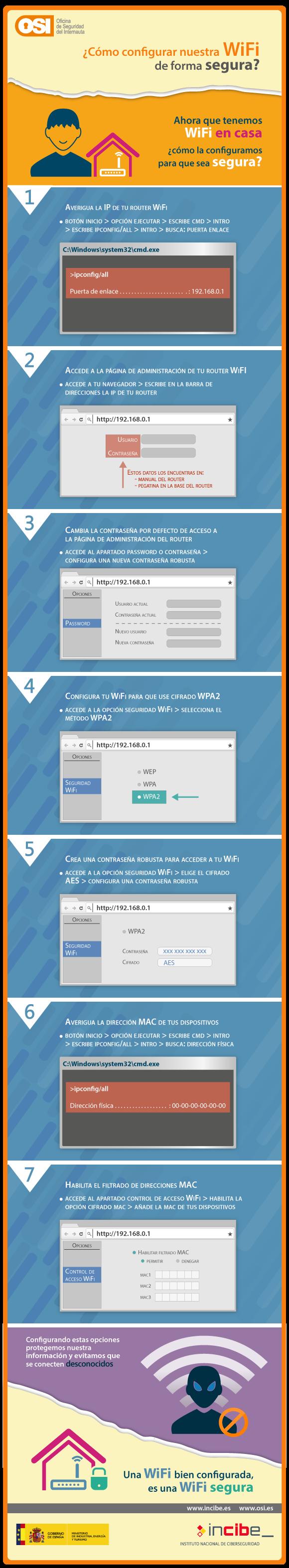 Cómo configurar una wifi de forma segura