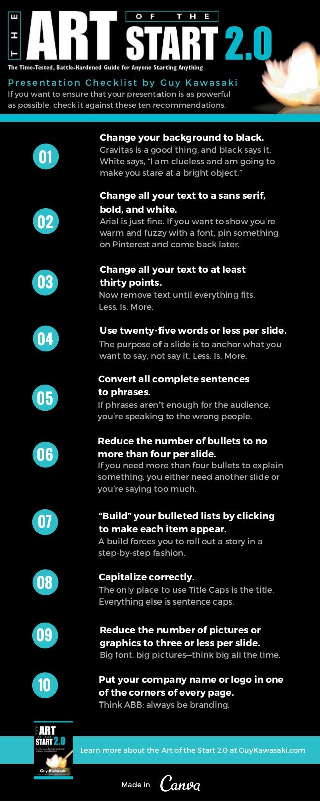 10 consejos de Guy Kawasaki para presentaciones