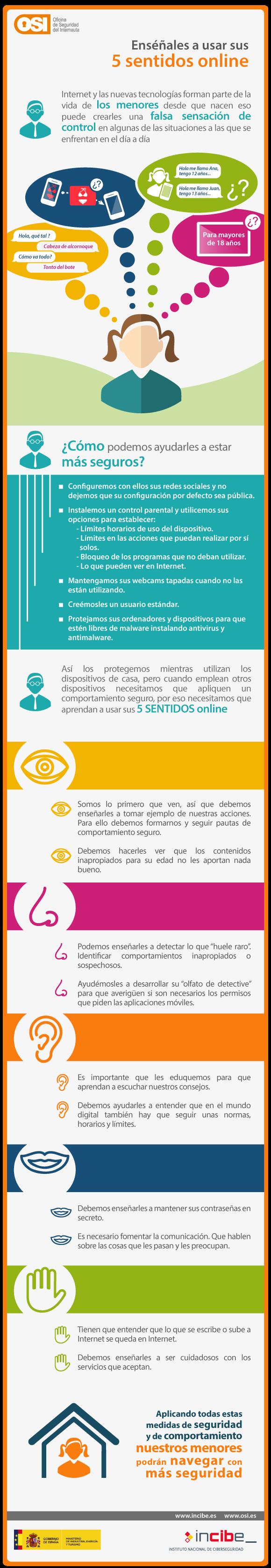Ayuda a los menores a usar sus 5 sentidos online
