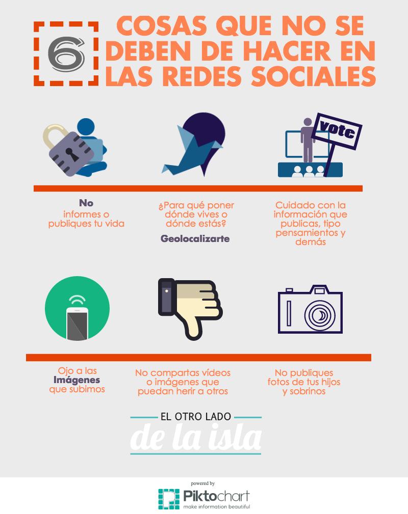 6 cosas que no debes hacer en Redes Sociales