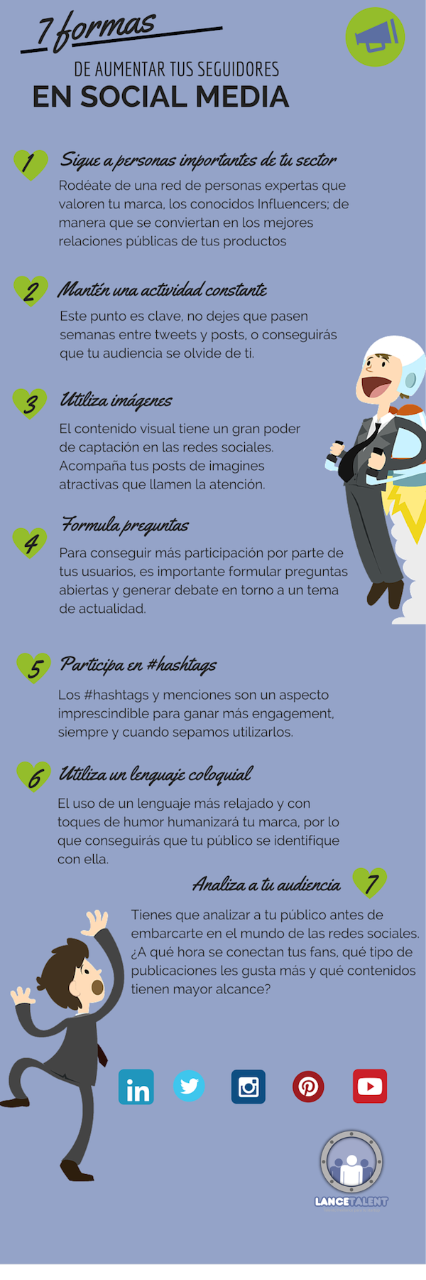 7 formas de aumentar seguidores en Redes Sociales