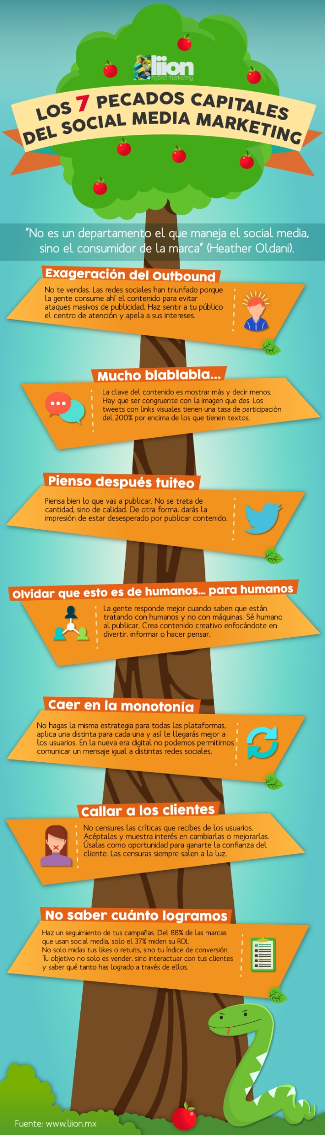 7 pecados capitales del Social Media