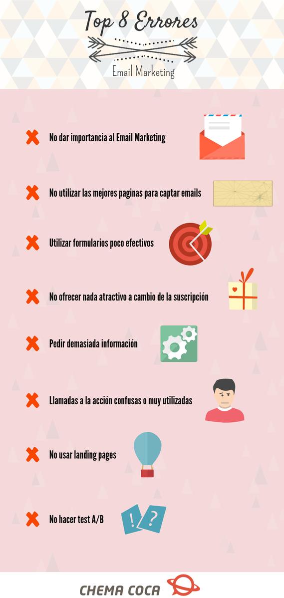 Top 8 errores en email marketing