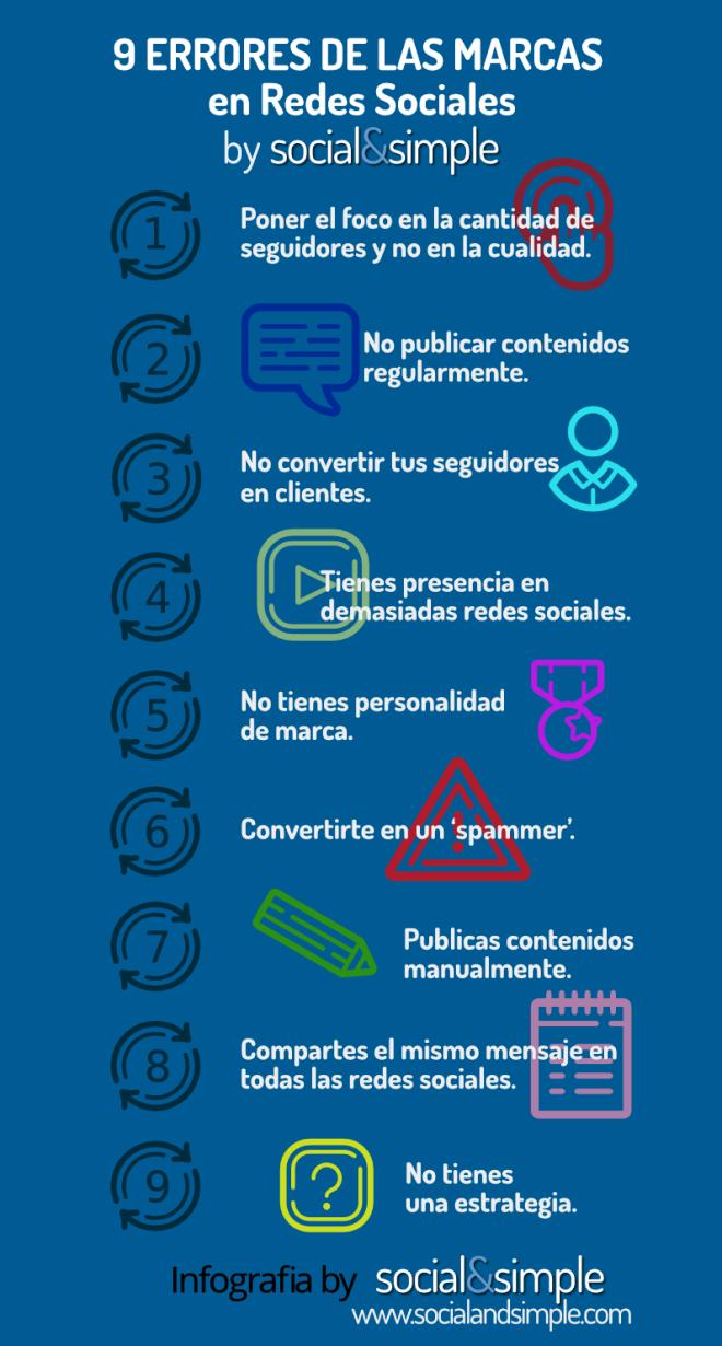 9 errores de las marcas y empresas en las Redes Sociales