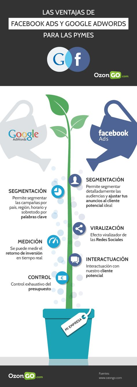 Ventajas de Facebook Ads y Google AdWords para PYMES