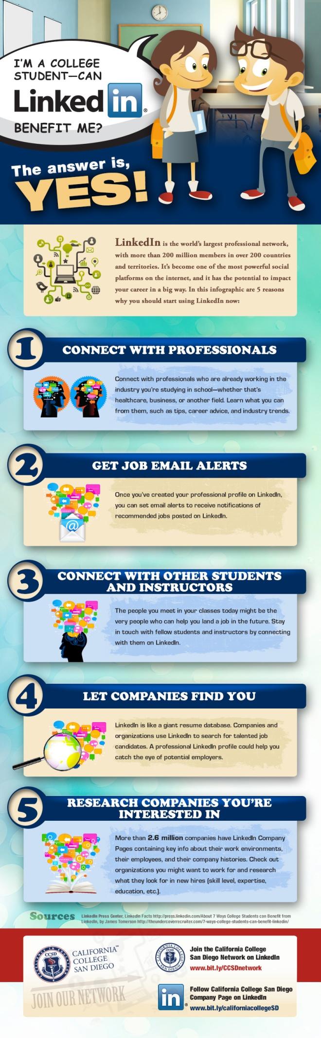 ¿Cómo puede ayudar Linkedin a los universitarios?