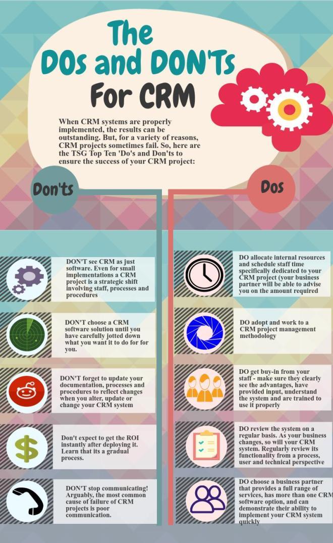 Qué hacer y no hacer para el CRM