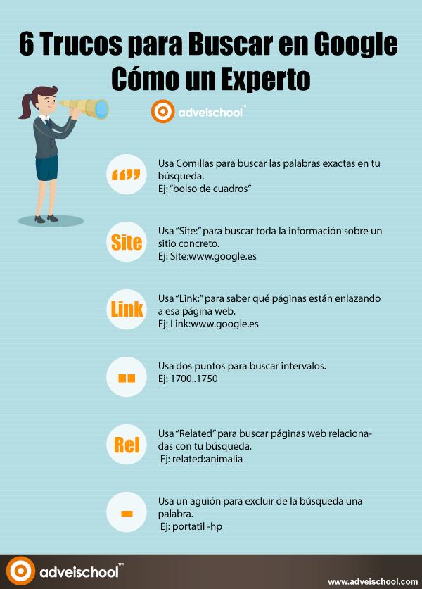6 Trucos para buscar en Google cómo un Experto