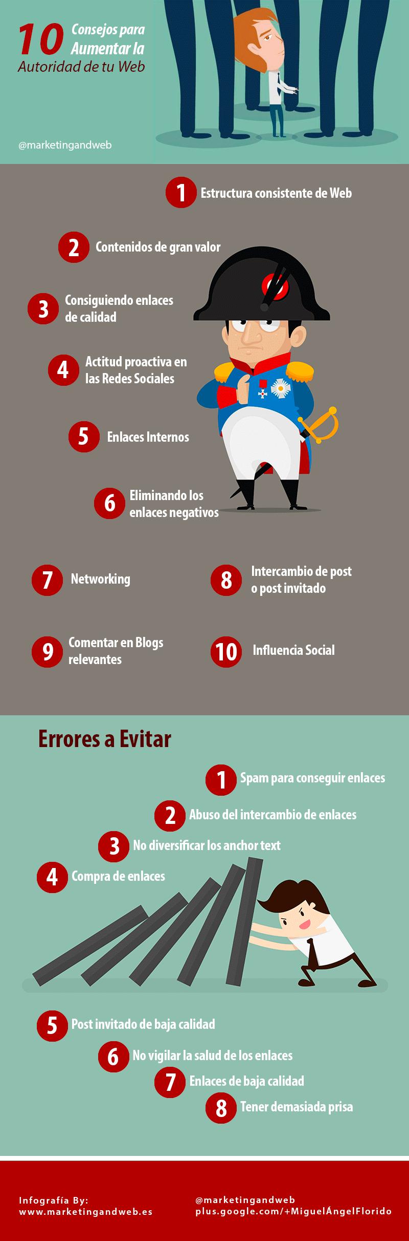 10 consejos para aumentar la autoridad de tu web (y 10 errores a evitar)