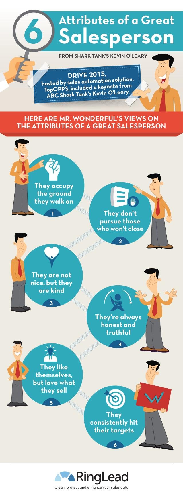 6 características de los grandes vendedores