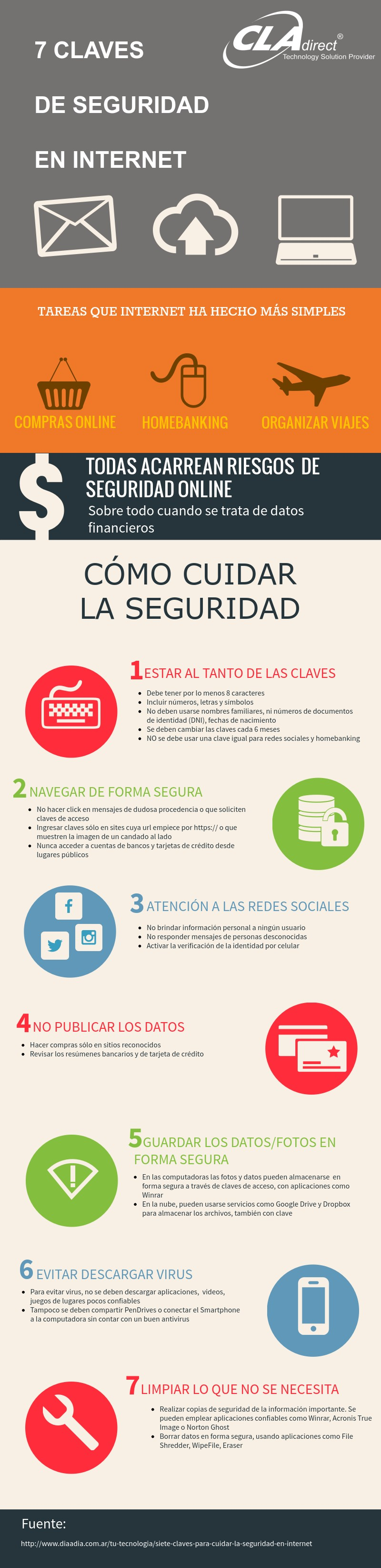 7 claves de seguridad en Internet