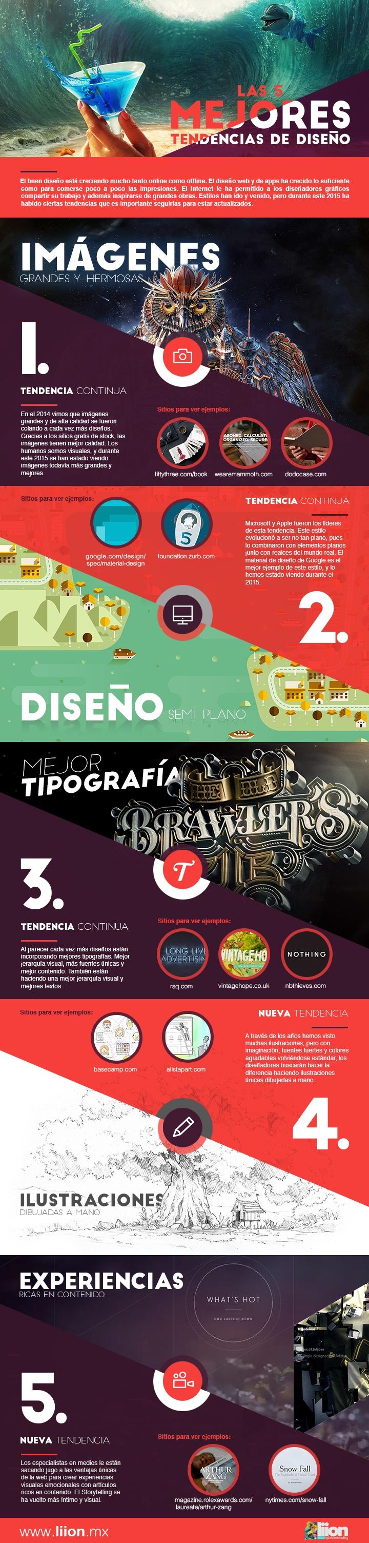 5 mejores tendencias de Diseño