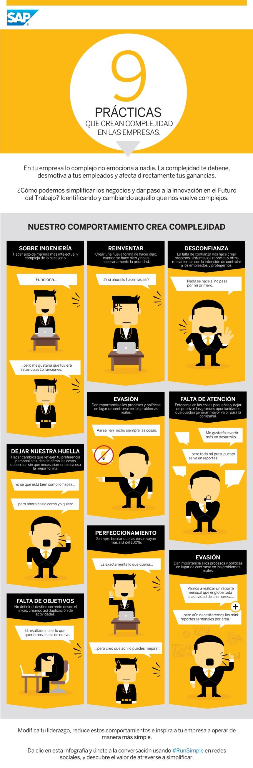 9 prácticas que crean complejidad en las empresas