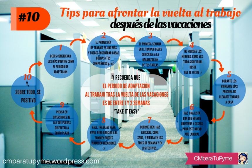 10 consejos para afrontar la vuelta al trabajo