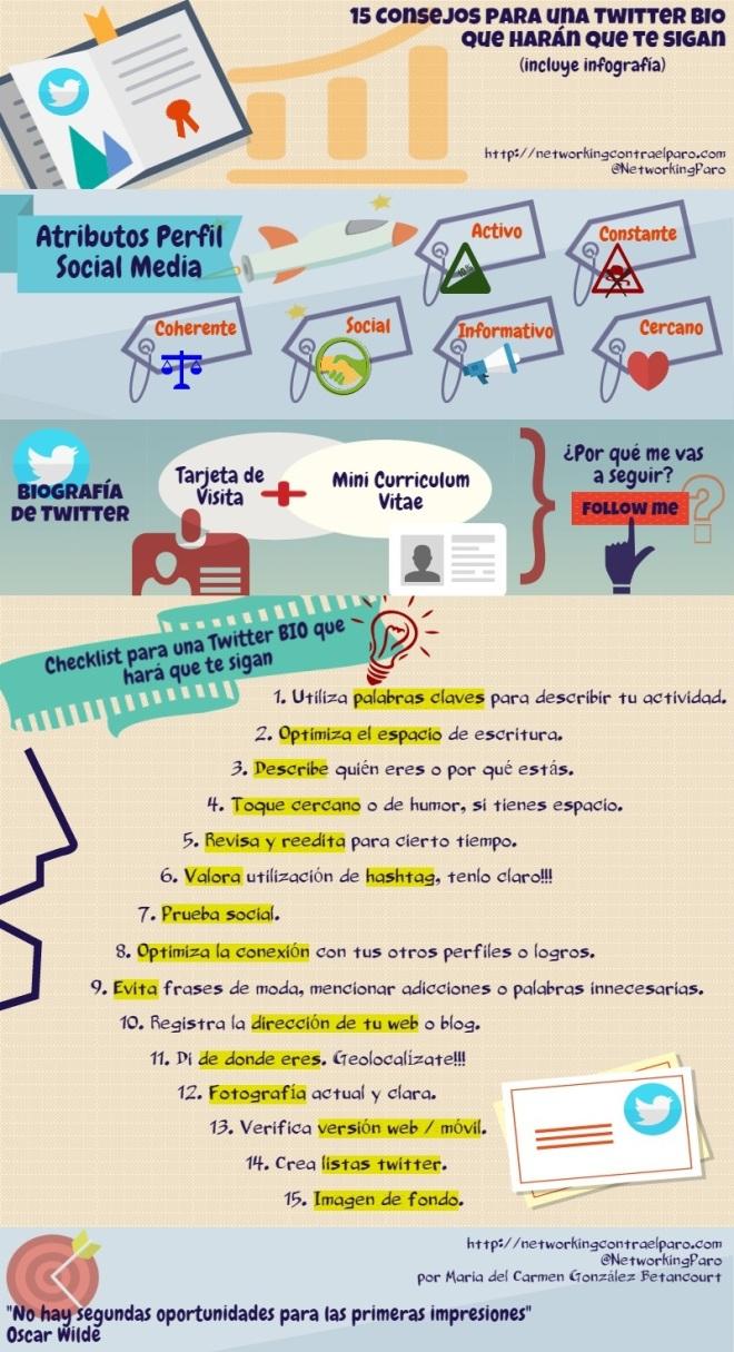 15 consejos par tu BIO de Twitter
