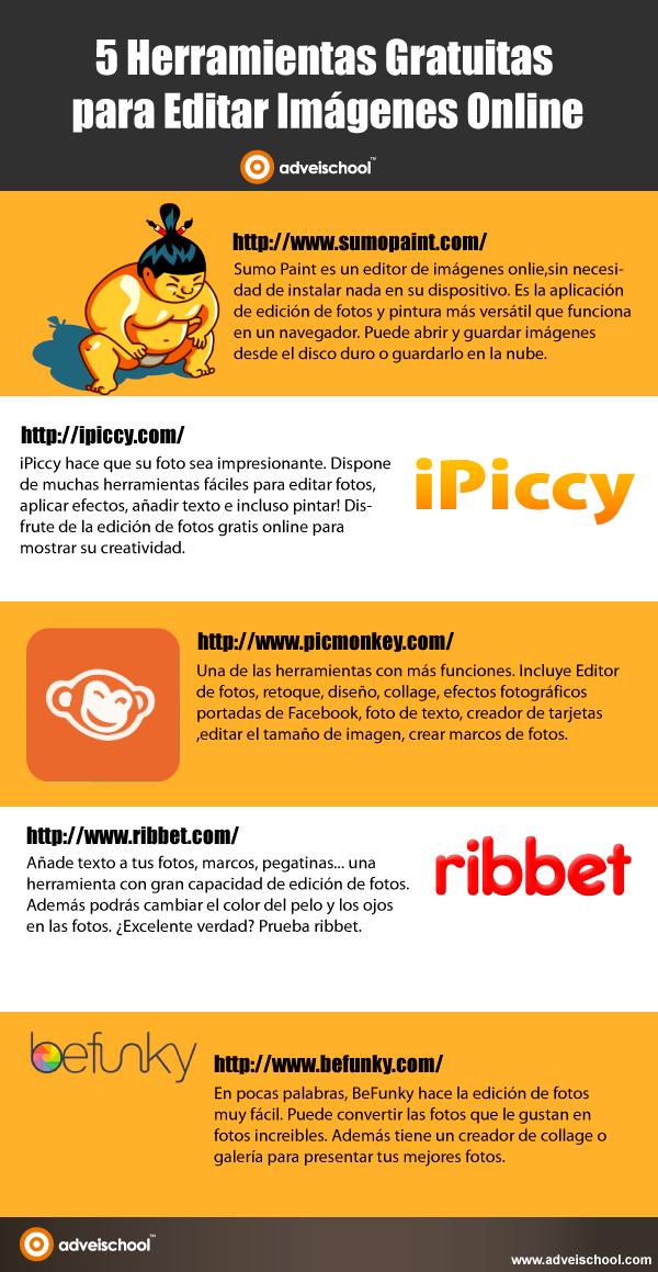 5 Herramientas gratuitas para editar Imágenes Online