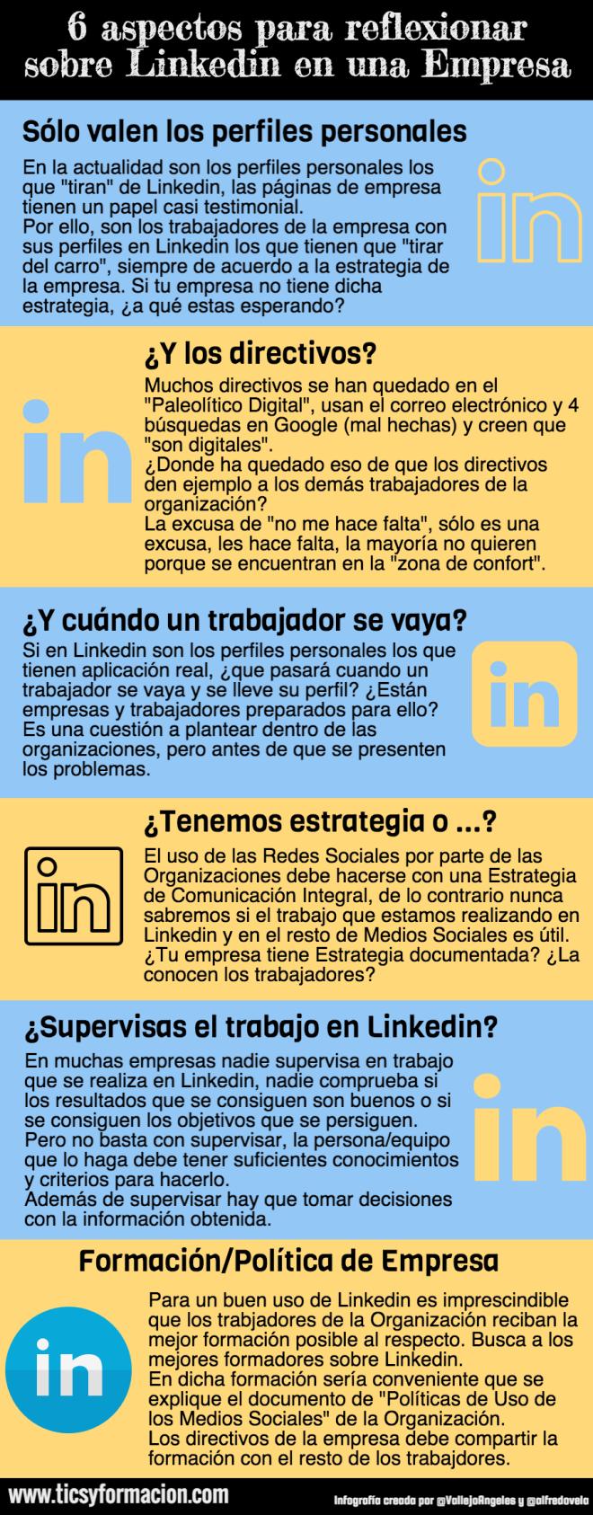 6 aspectos para reflexionar sobre Linkedin en una Empresa