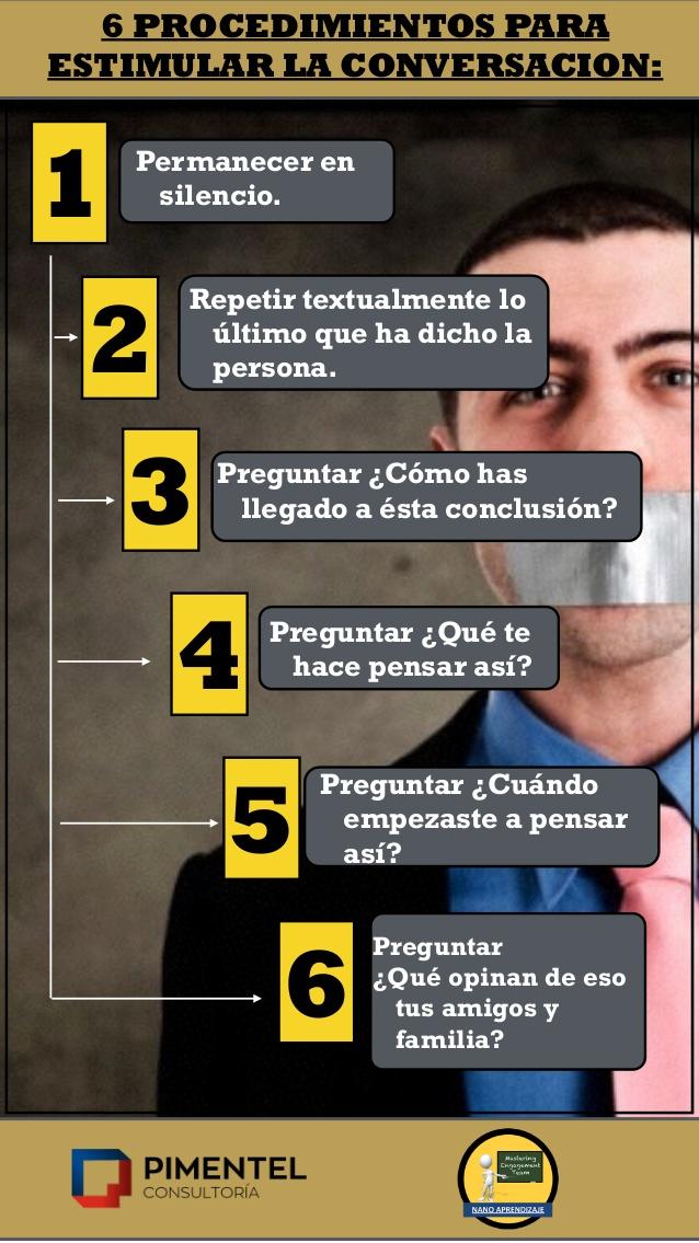 6 procedimientos para estimular la conversación