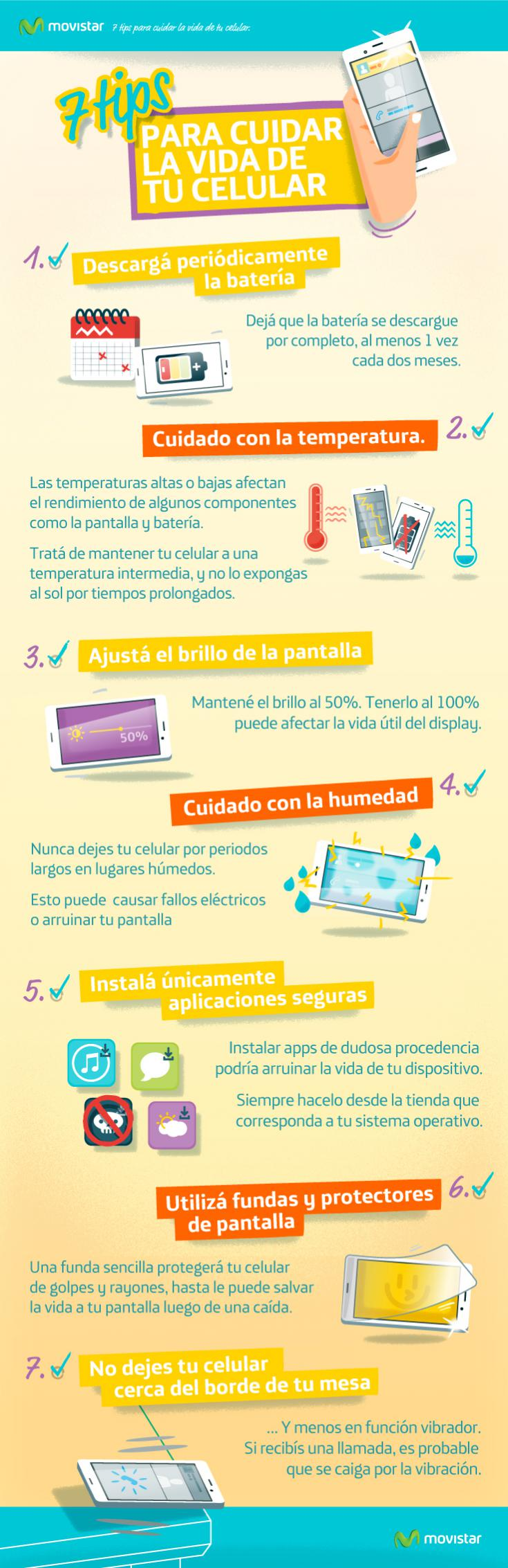 7 consejos para cuidar la vida de tu móvil