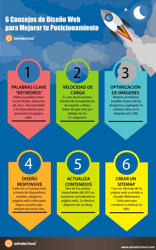 6 Consejos de Diseño Web para mejorar tu Posicionamiento