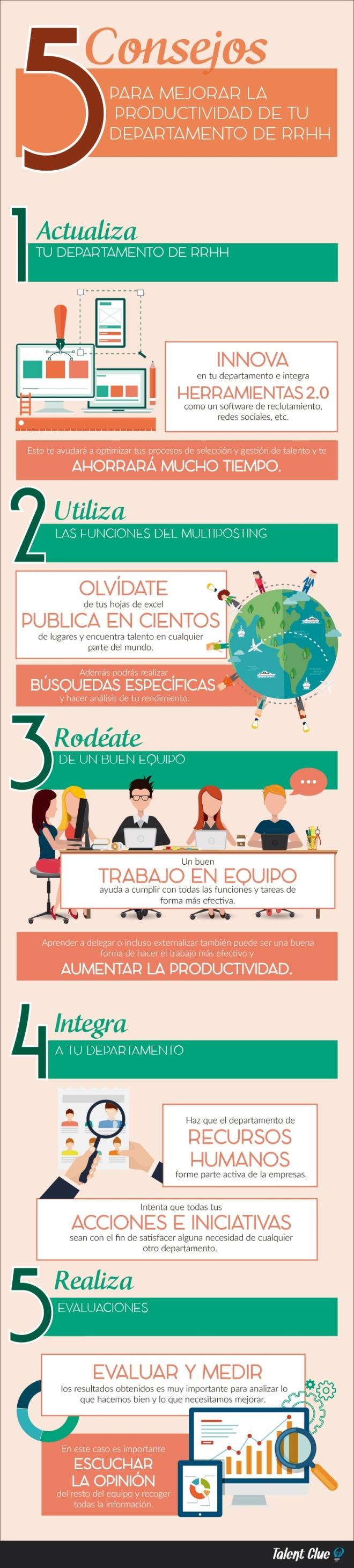 5 consejos para mejorar Productividad del departamento de Recursos Humanos