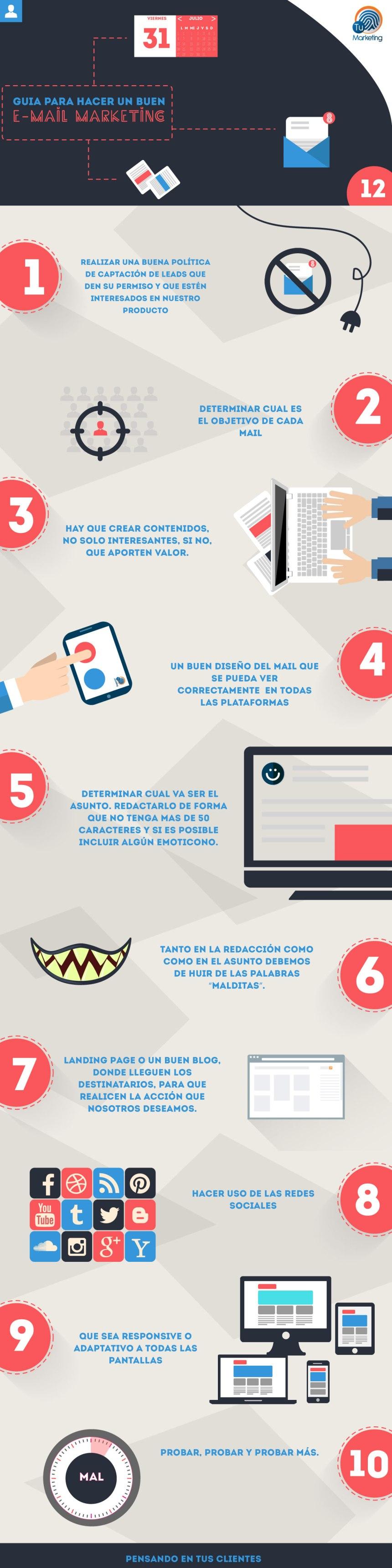 Gu a para hacer buen email marketing infografia - Guia para construir ...