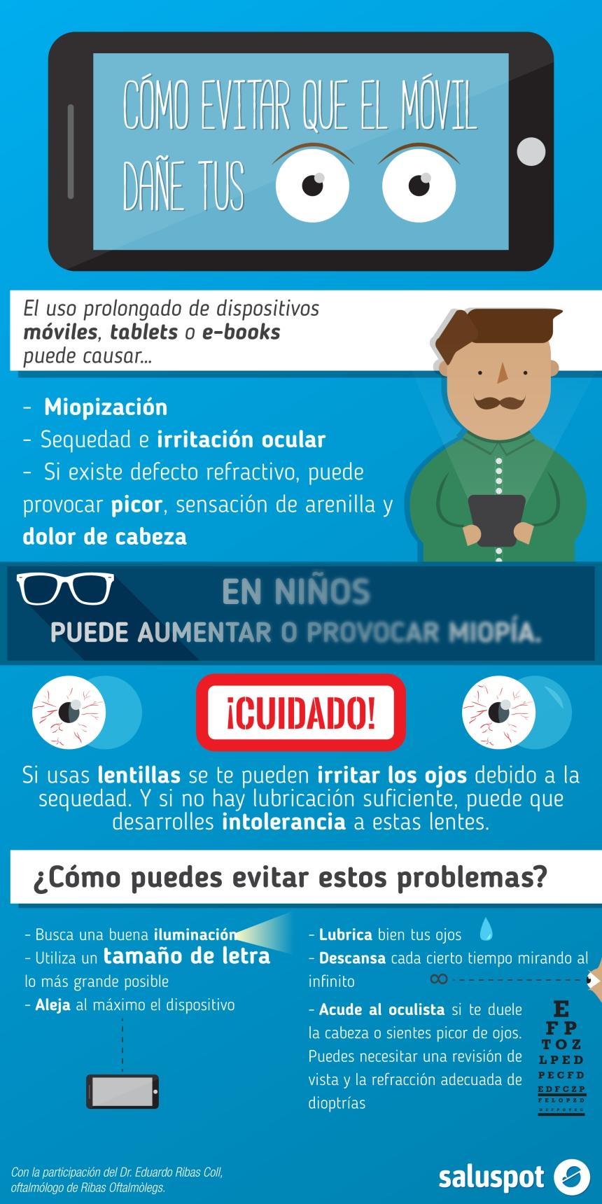 Cómo evitar que el móvil dañe tus ojos
