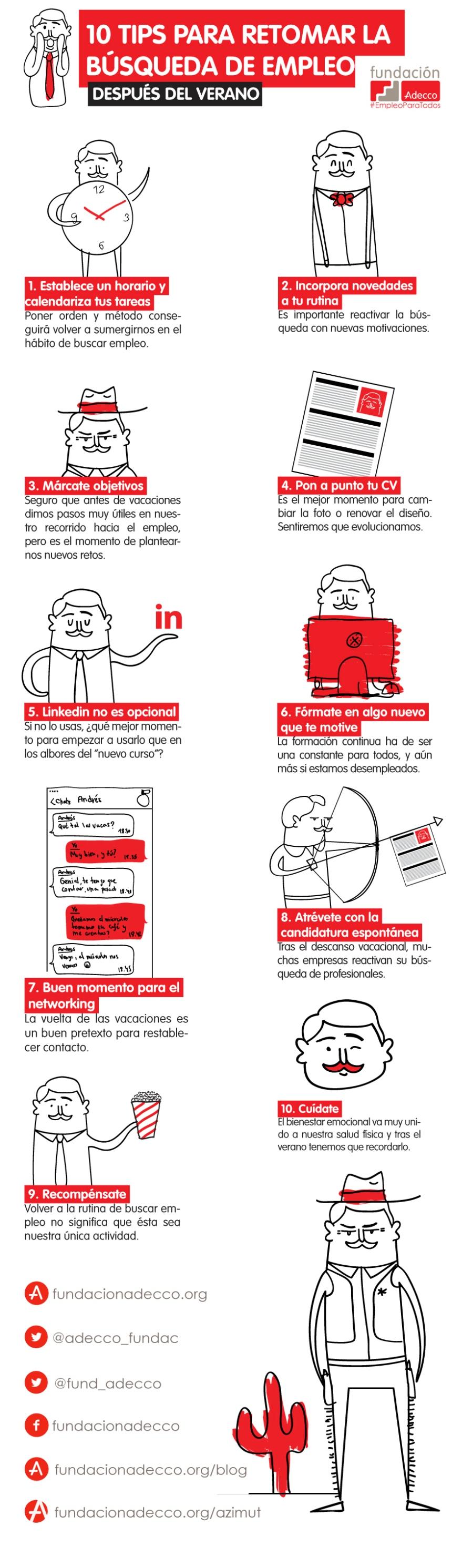 10 consejos para buscar empleo después de vacaciones
