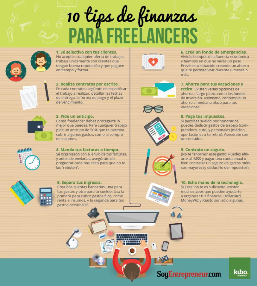 10 consejos de finanzas para freelance