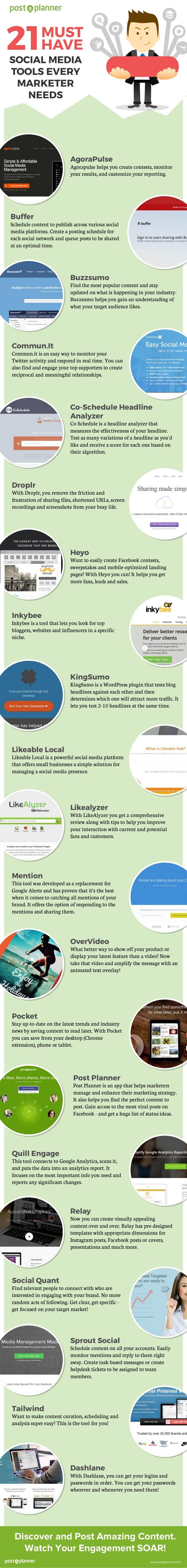 21 herramientas para Redes Sociales para Marketing