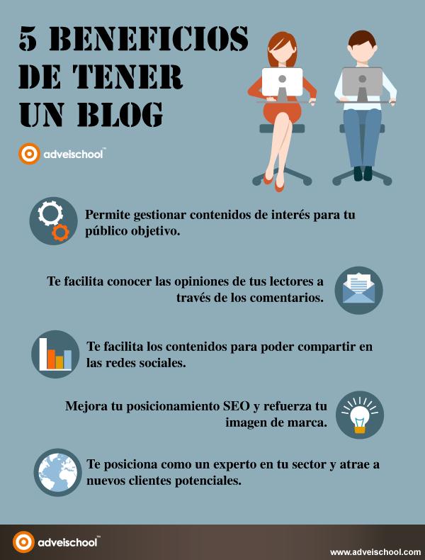 5 beneficios de tener un Blog