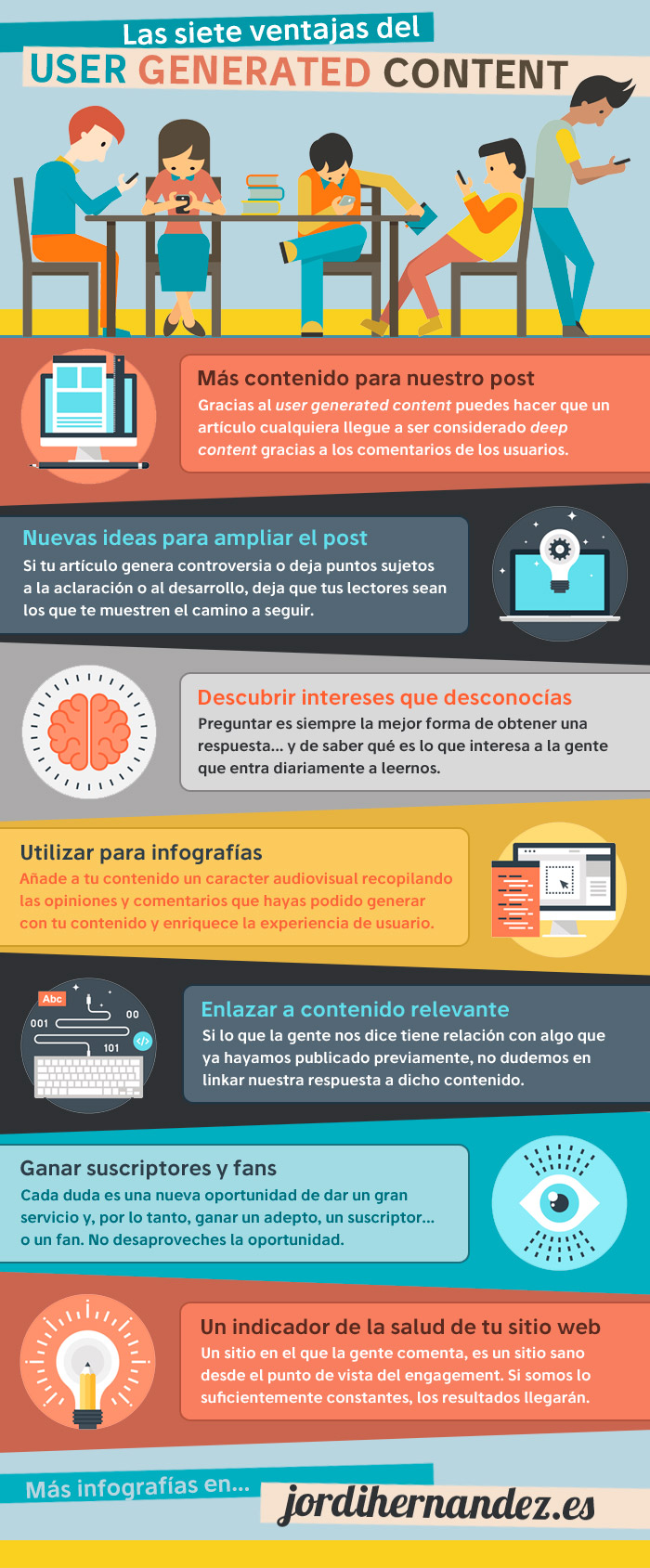 Los 7 beneficios del user generated content