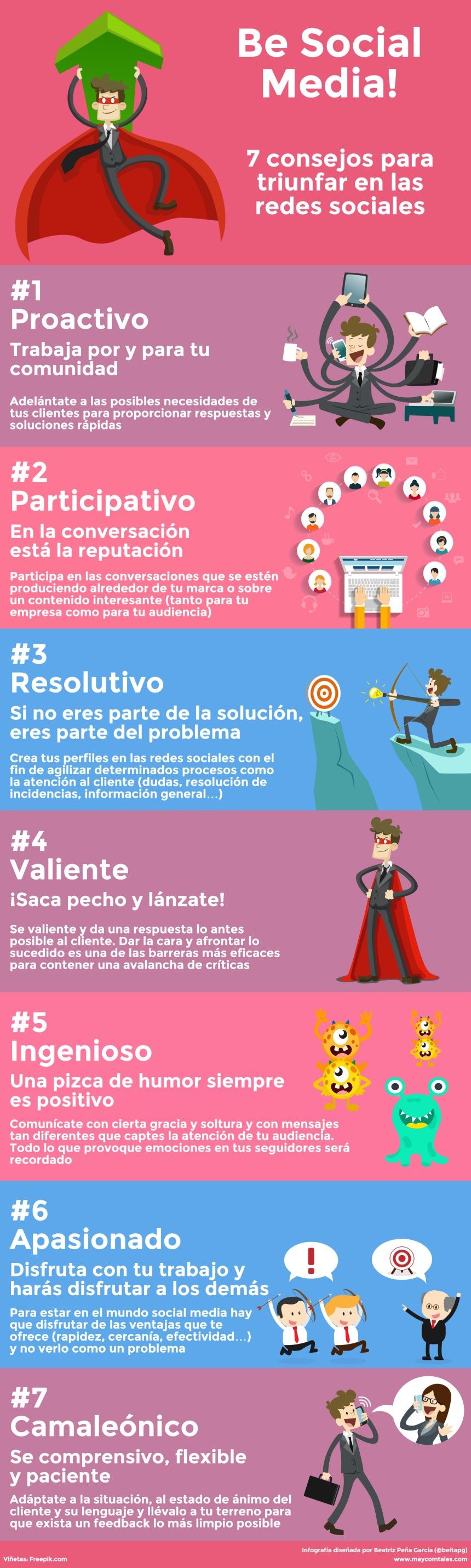 7 consejos para triunfar en Redes Sociales