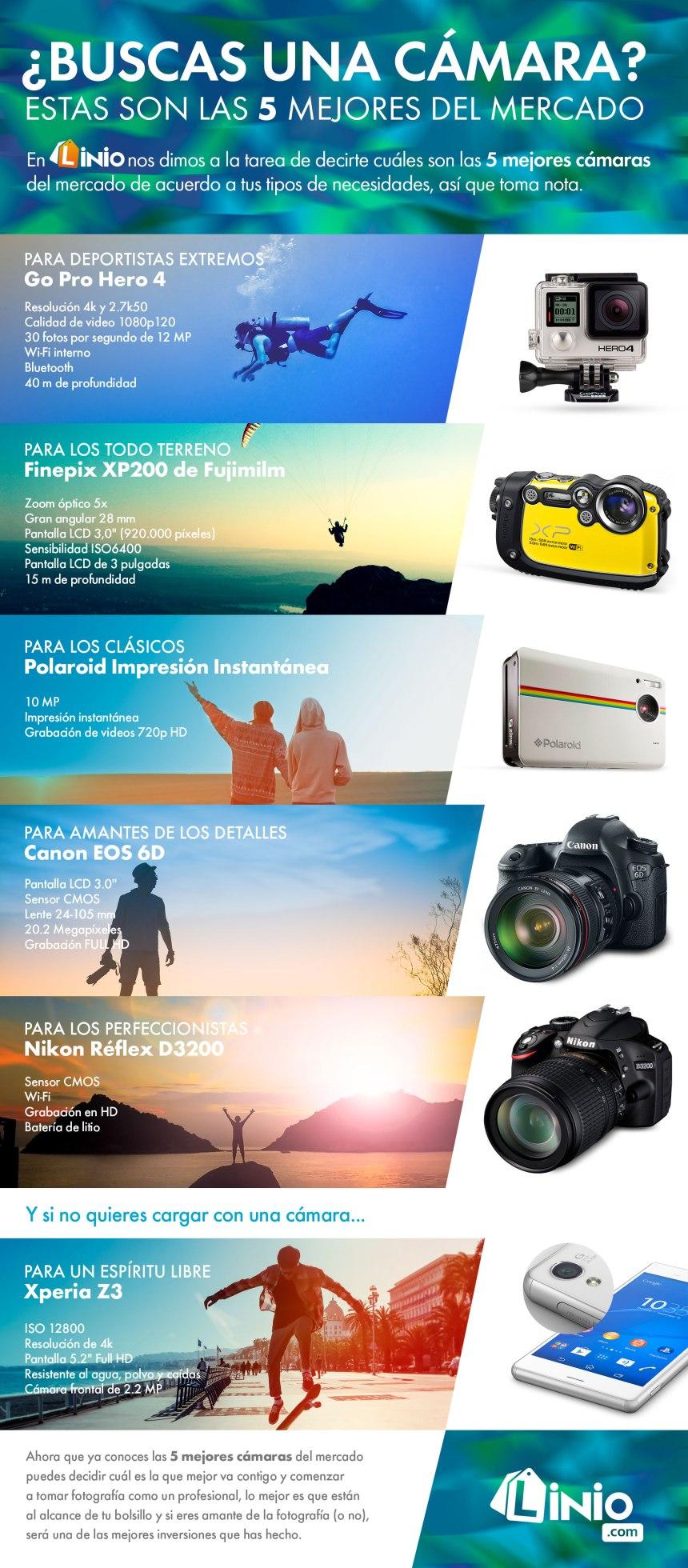 Las 5 (o 6) mejores cámaras fotográficas del mercado