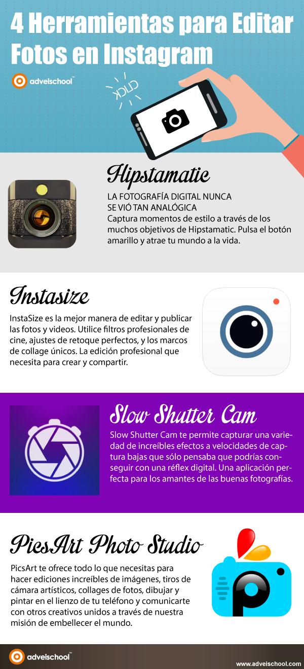 4 herramientas para editar fotografías para Instagram