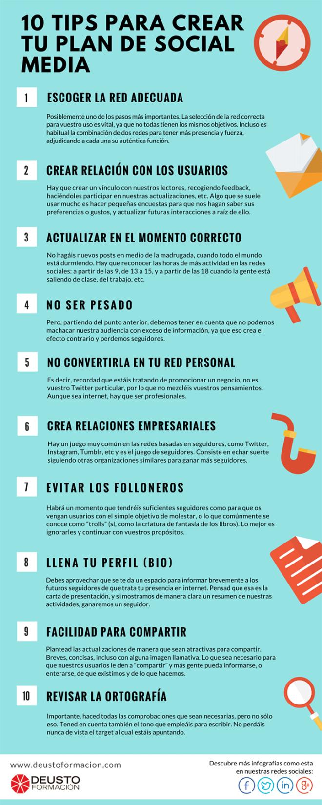 10 consejos para crear un Plan de Redes Sociales