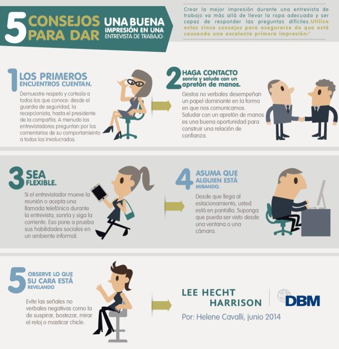 5 consejos para causar buena impresión en la Entrevista de Trabajo