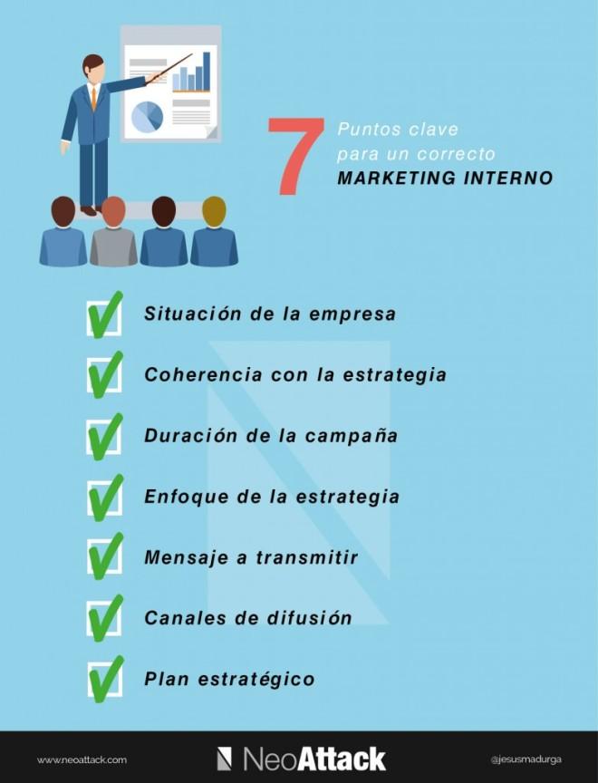 7 puntos clave para un correcto Marketing Interno