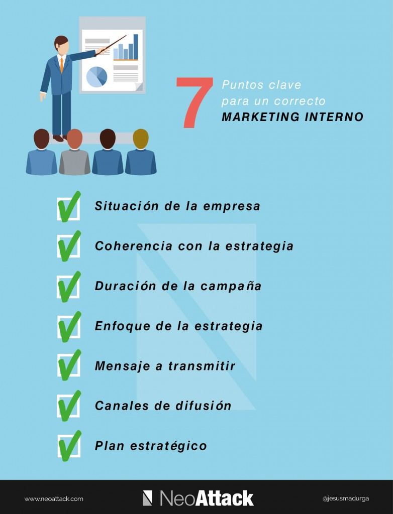 7 puntos clave para un correcto Marketing Interno