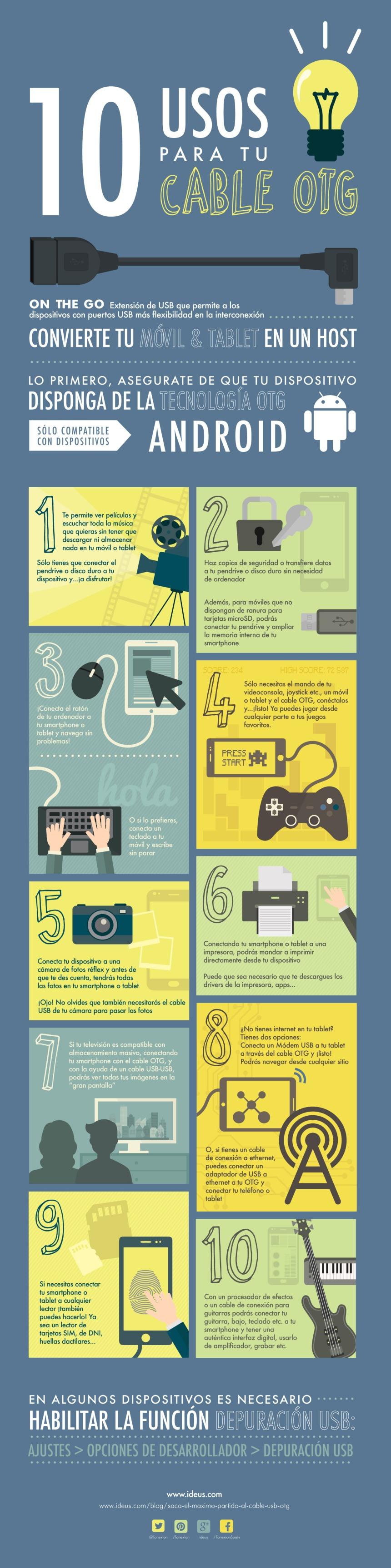 10 uso para tu cable OTG